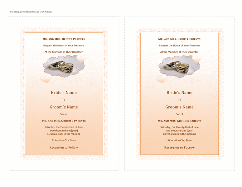 microsoft word wedding invitation templates