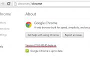 Google Chrome 27 beta
