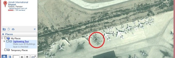 karachi-airport-plane-debris-google-map-cargo-unit