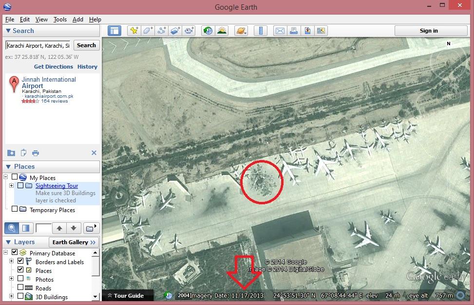 karachi-airport-plane-debris-google-map-cargo-unit